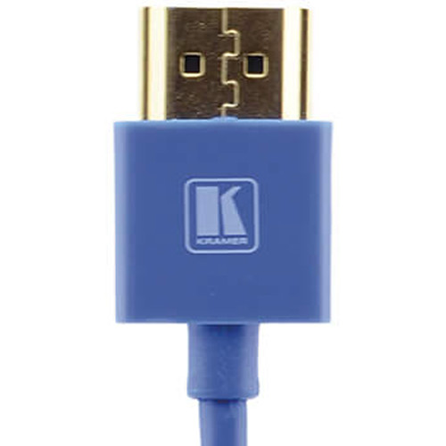 Kramer C-HM/HM/PICO/BL-10 Ultra-Slim Flexible High-Speed HDMI Cable with Ethernet (Blue, 10')