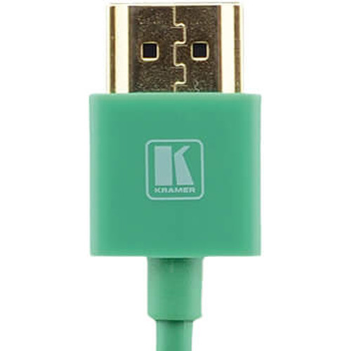 Kramer C-HM/HM/PICO/GR-3 Ultra-Slim Flexible High-Speed HDMI Cable with Ethernet (Green, 3')