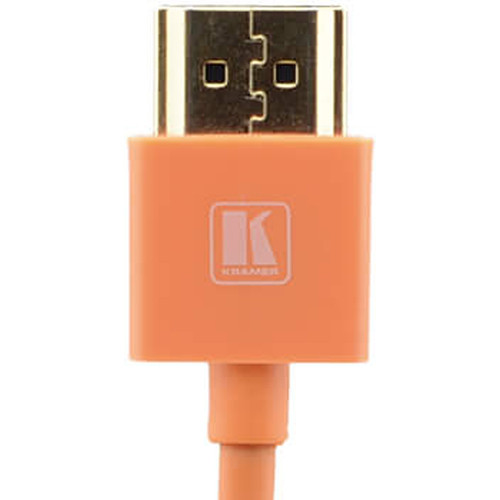 Kramer C-HM/HM/PICO/OR-3 Ultra-Slim Flexible High-Speed HDMI Cable with Ethernet (Orange, 3')