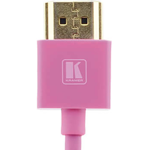 Kramer C-HM/HM/PICO/PK-10 Ultra-Slim Flexible High-Speed HDMI Cable with Ethernet (Pink, 10')