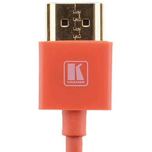 Kramer C-HM/HM/PICO/RD-10 Ultra-Slim Flexible High-Speed HDMI Cable with Ethernet (Red, 10')
