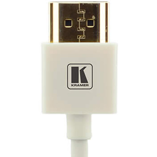 Kramer C-HM/HM/PICO/WH-3 Ultra-Slim Flexible High-Speed HDMI Cable with Ethernet (White, 3')