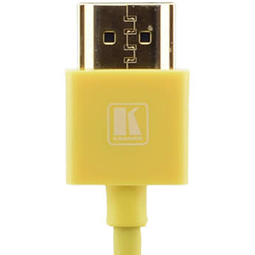 Kramer C-HM/HM/PICO/YL-3 Ultra-Slim Flexible High-Speed HDMI Cable with Ethernet (Yellow, 3')
