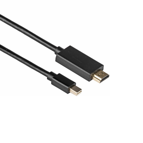 Kramer Mini DisplayPort Male to HDMI Cable (3', Black)