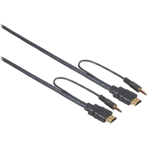 Kramer High-Speed HDMI Male Flexible Cable with Ethernet and 3.5mm Stereo Audio (10')