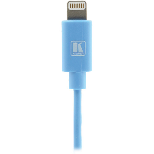 Kramer Lightning to USB Sync & Charge Cable (6', Blue)