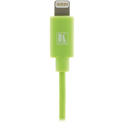 Kramer Lightning to USB Sync & Charge Cable (3', Green)