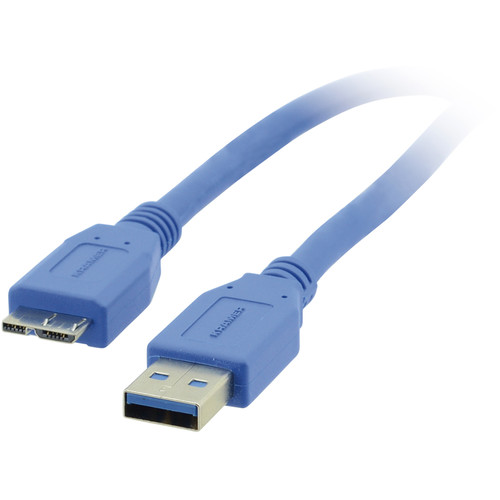 Kramer USB 3.0 Micro B Male To Type A Male Cable (10')
