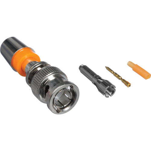 Kramer BNC M Compression Connector for 26-28 AWG Coax (Orange)