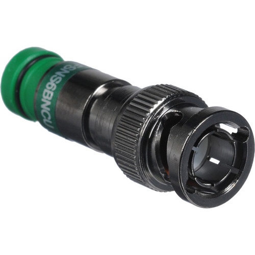Kramer BNC M Compression Connector for RG-6 Coax (Green)