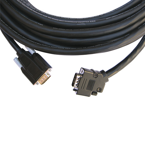 Kramer 15-Pin VGA Male to 45° Male Plenum Cable with 3.5mm Audio (35')