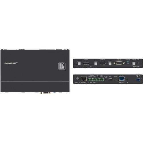 Kramer DIP-22 4K60 4:2:0 DisplayPort, HDMI & VGA Auto Switcher with Maestro Room Automation