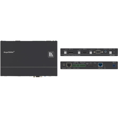 Kramer 4K60 4:2:0 DisplayPort, HDMI & VGA Auto Switcher with Maestro Room Automation