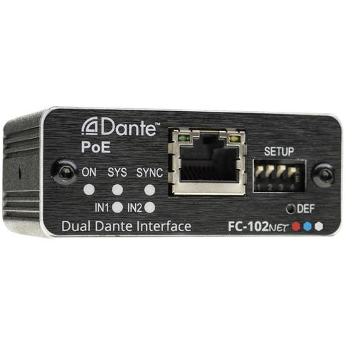 Kramer FC-102Net 2-Channel Dante Encoder & PoE Acceptor