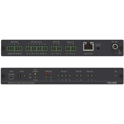 Kramer 10-Port Serial, IR, GPI/O, and Relay PoE Control Gateway