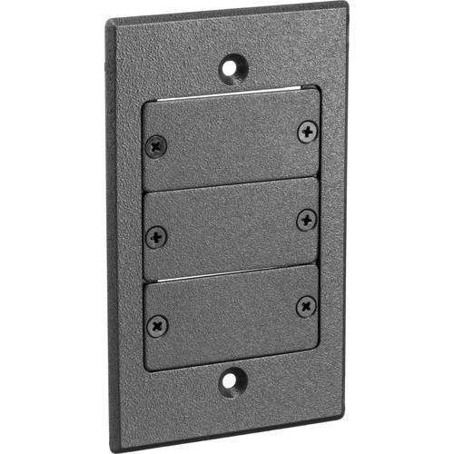 Kramer FRAME-1G Three-Insert Frame for Single-Gang Wall Plate Inserts (Gray)
