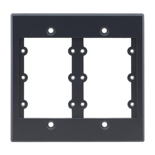 Kramer Two-Gang Frame for Wall Plate Inserts (Gray)