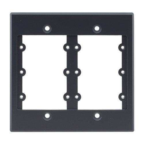 Kramer Two-Gang Frame for Wall Plate Inserts (Gray)