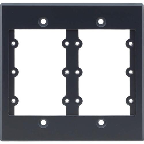 Kramer Two-Gang Frame for Wall Plate Inserts (White)