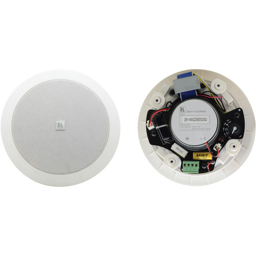 "Kramer Galil 4-CO 4"" Two-Way Open-Back Ceiling Speaker (Pair, White)"
