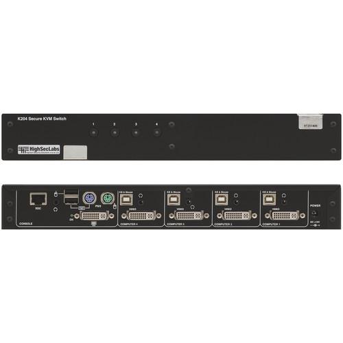 High Sec Labs 4-Port DVI-I KVM Switch