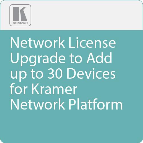 Kramer Network License Upgrade to Add up to 30 Devices for Kramer Network Platform