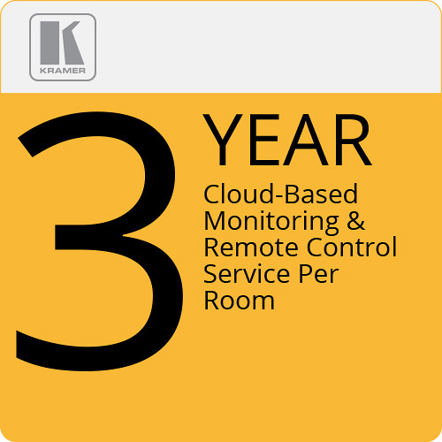 Kramer Cloud-Based Monitoring & Remote Control Service Per Room (3-Year)