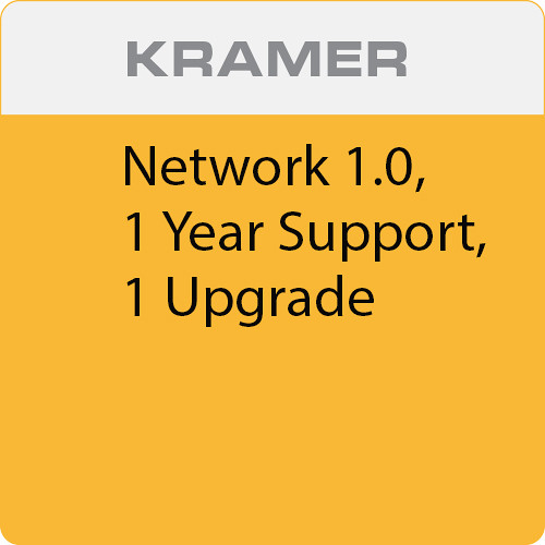 Kramer Network 1.0, 1 Year Support, 1 Upgrade