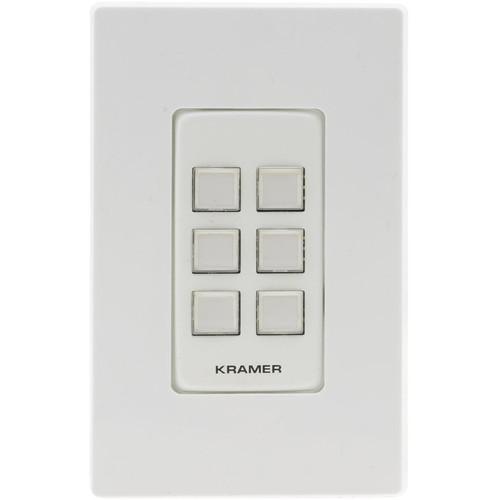 Kramer RC-206 6-Button I/O Control Keypad (White/Black)