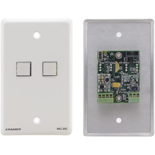 Kramer 2-Button RS-232 and IR Controller (Gray)