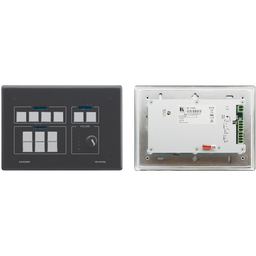 Kramer 12-Button K-NET Auxiliary Control Panel (Black)