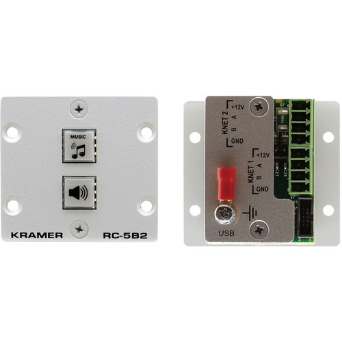 Kramer RC-5B2 Wall Plate Insert 2-Button Auxiliary Control Panel