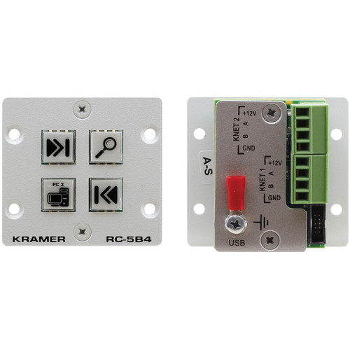 Kramer RC-5B4 Wall Plate Insert 4-Button Auxiliary Control Panel