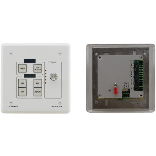 Kramer RC63DLNW 6-Button KNET Control Keypad with Knob and Displays (US Version, White)