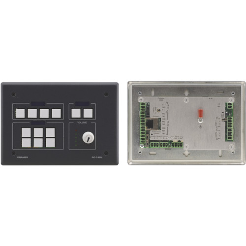 Kramer 12-Button Master Room Controller with Digital Volume Knob (White)