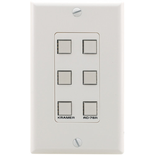 Kramer RC-76R Configurable 6-Button Wall Plate