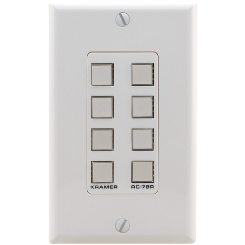 Kramer RC-78R Configurable 8-Button Wall Plate
