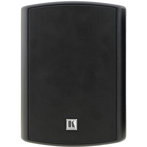 "Kramer Tavor 5−O 5.25"" Two-Way, On-Wall Powered Speakers (Speaker Set, Black)"