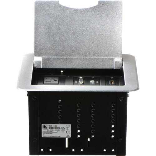 Kramer TBUS-1A-C2 Fully Assembled Tabletop Enclosure (Brushed Aluminum)
