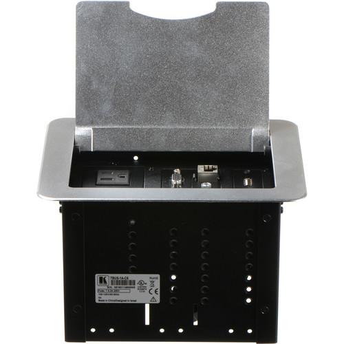 Kramer TBUS-1A-C6 Fully Assembled Tabletop Enclosure (Brushed Aluminum)