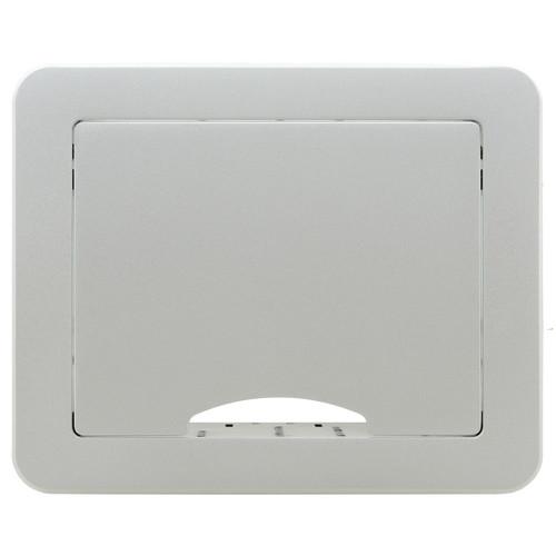 Kramer Table Mount Modular Multi-Connection Solution - Tilt-Up Lid (Silver)