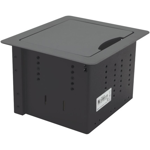 Kramer TBUS-1N Table Mount Modular Multi-Connection Solution - Retractable Lid (Black)