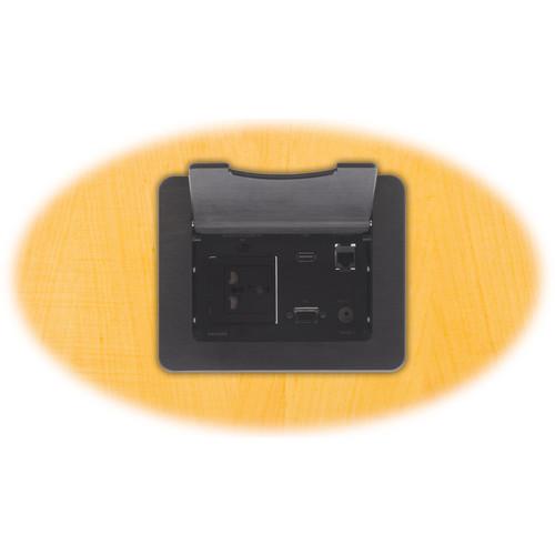 Kramer TBUS-3xl Table Mount Modular Multi-Connection Solution (Black)