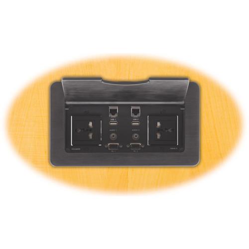 Kramer TBUS-4xl Table Mount Modular Multi-Connection Solution (Black)