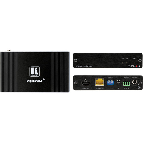 Kramer 4K HDR HDMI PoC Receiver with RS-232 & IR over Long-Reach DGKat 2.0
