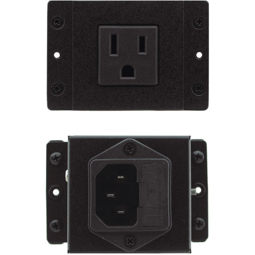 Kramer TBUS Dual Socket Module with 1 Universal AC Power Socket and 2 USB Charging Ports