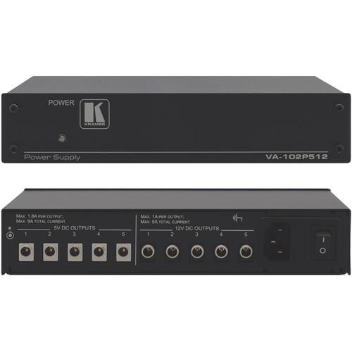 Kramer VA-102P512 10-Port Dual Voltage DC Power Supply