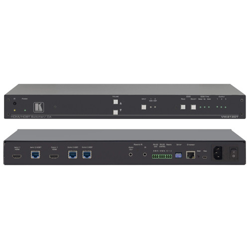 Kramer 2x1:2 4K UHD HDMI and HDBaseT Distribution Amplifier