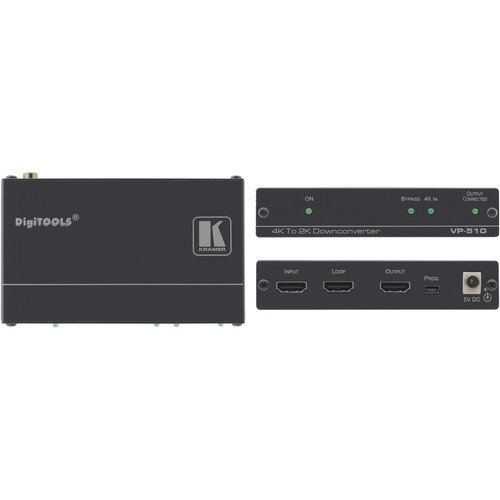Kramer HDMI 4K to 2K Scaler/Down Converter with HDMI Loop Output