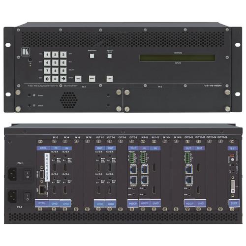 Kramer 2x2 to 16x16 Modular 4K60 4:2:0 Multi-Format Digital Matrix Switcher